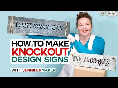 Make Knockout Design Signs in Cricut Design Space