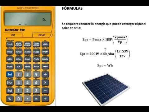 C 243 Mo Calcular El Numero De Paneles Solares En Un Sistema