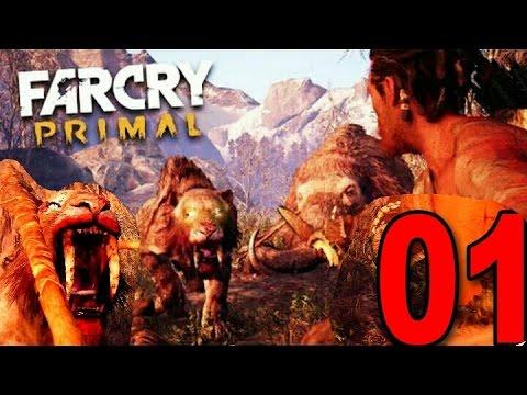 FarCry Primal : ,, Vom Säbelzahntiger verfolgt / Pronolog / Mammut Jagt  ,, #1 benjulian1 PS4