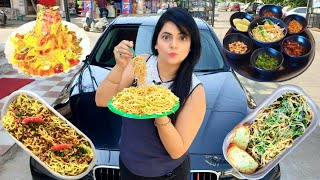 I only ate NOODLES for 24 HOURS Challenge   Food Challenge