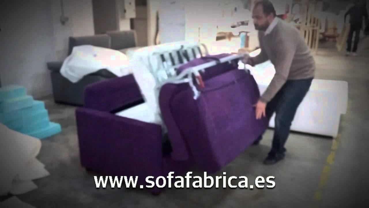 Sofa cama modelo ivana italiano individual youtube for Sofa cama individual
