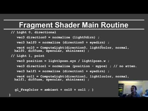 Online Graphics Course OpenGL Shading: Fragment Shader - YouTube