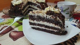"""Шоколадный торт с нежнейшим кремом """"Пломбир"""" ."""