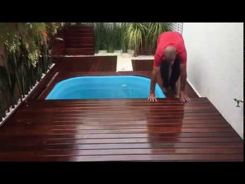 Deck m vel para piscina com o rei do pergolado youtube for Piscina e maschile o femminile