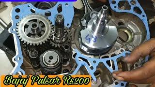 Bajaj Pulsar Rs 200 Full Engine Fitting
