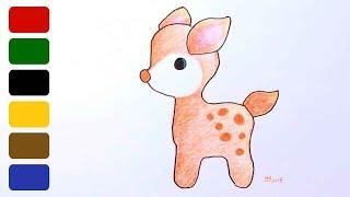 deer draw simple