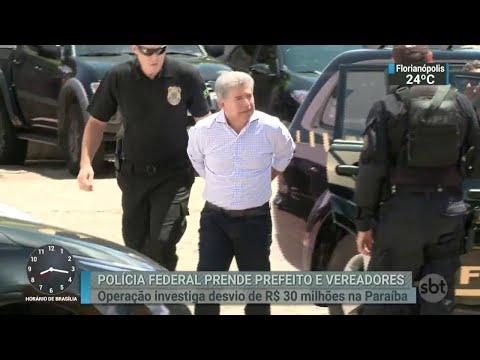 Prefeito e cinco vereadores de cidade na Paraíba são presos pela PF | SBT Brasil (03/04/18)