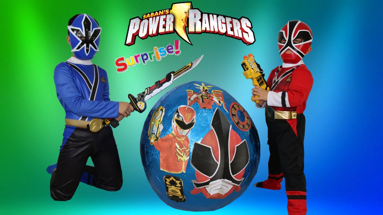 Power Rangers Super Giant Surprise Egg Toys Opening Dino Charger