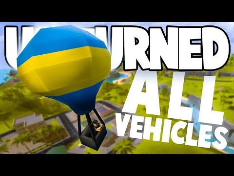 Unturned Hawaii Overhaul: ALL THE NEW VEHICLES! (Hot Air Balloon, Lamborghini, Gyrocopter, & More)