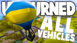 Unturned Hawaii Overhaul: ALL THE NEW VEHICLES! (Hot Air Balloon, Lamborghini, Gyrocopter, & More)