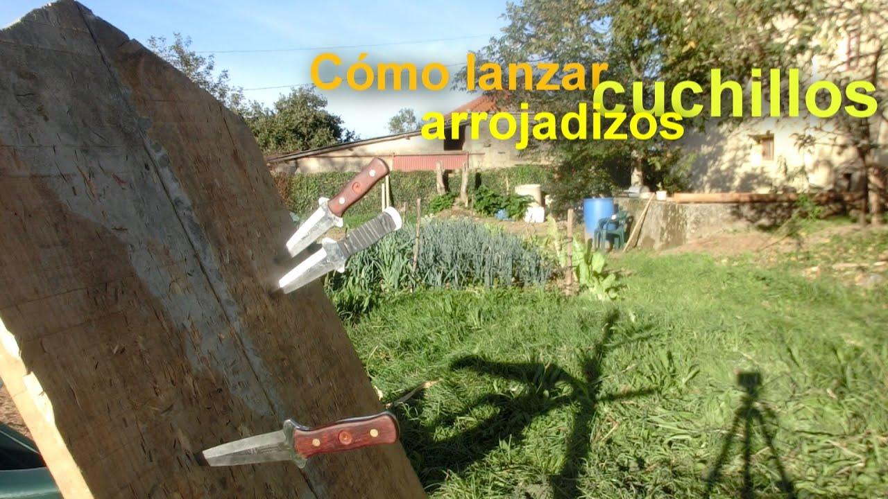 C mo lanzar cuchillos arrojadizos youtube for Como pulir un cuchillo