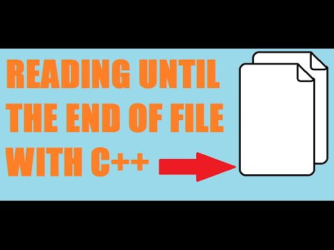 C++ FILE PROCESSING - End of file reading