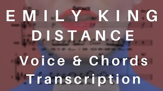 Emily King - Distance (Voice & Chords Transcription | Songbook Style)
