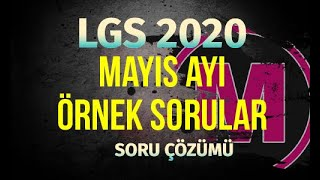 LGS Mayıs Ayı Örnek Sorular Matematik 2020