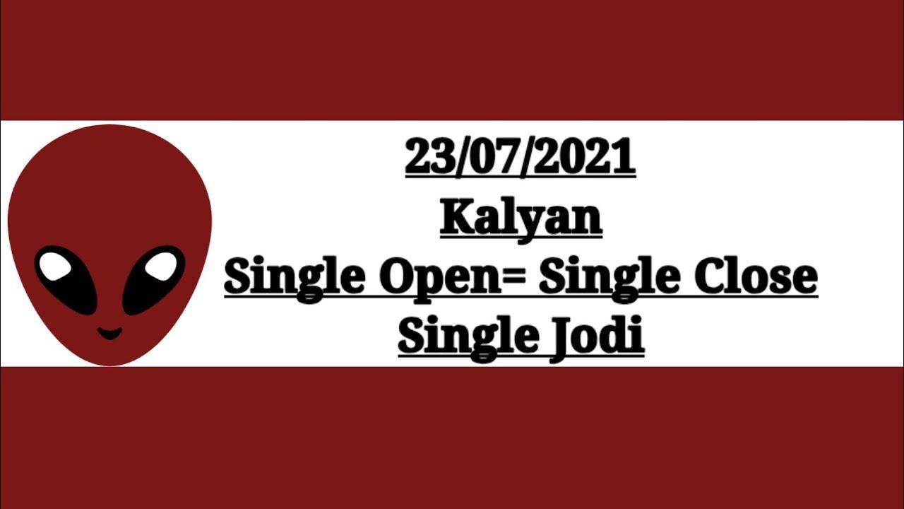 Kalyan Chart, Kalyan Open, 23 July 2021 Kalyan Otc