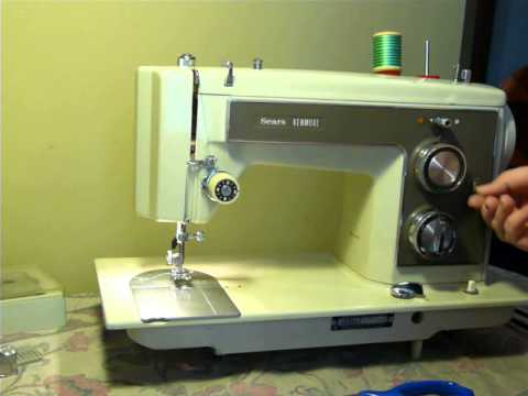 NIFTYTHRIFTYGIRL Vintage Kenmore Model 40 Sewing Machine YouTube Custom How To Thread A Vintage Kenmore Sewing Machine