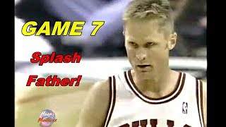 Splash Father Steve Kerr ''Key 3 Pointers'' in Game 7! (1998 Playoffs vs Pacers)