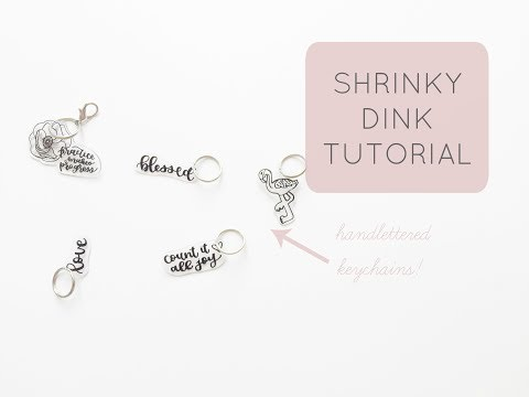 How To Make Handlettered Shrinky Dink Keychains | Shrinky Dink Tutorial