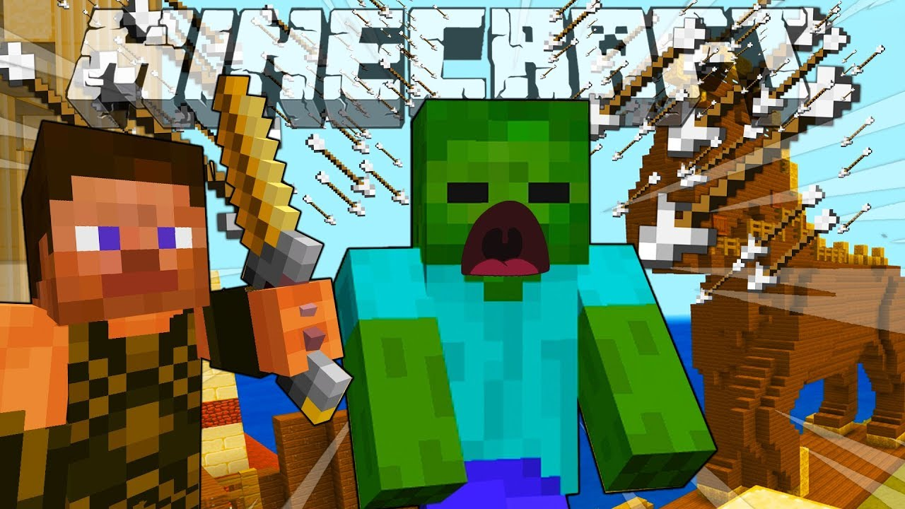 BABY ZOMBIE AND STEVE KILL ACHILLES - MINECRAFT STEVE AND BABY ZOMBIE [2]