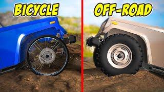 Wheels: Bicycle vs Off-Raod - BeamNG drive | Wheelbump