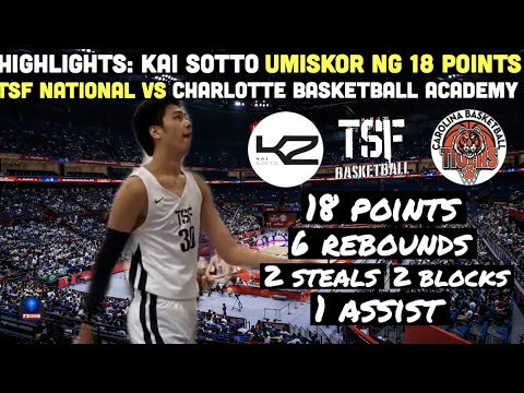 Download Highlights: Kai Sotto Latest Game | TSF vs Charlotte Basketball Academy | January 15, 2020