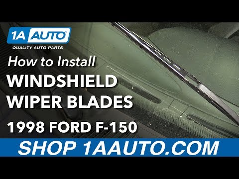 How to Install Replace Windshield Wiper Blades 1998 Ford F-150