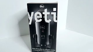 BLUE YETI USB MICROPHONE - BLACKOUT EDITION UNBOXING