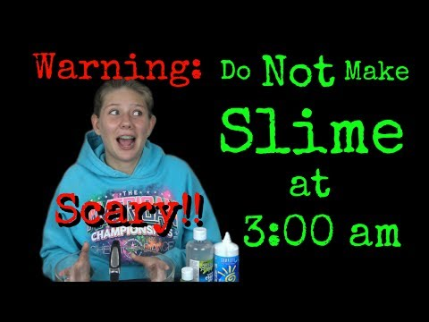 Thumbnail: DO NOT MAKE SLIME AT 3 AM | CHALLENGE GONE WRONG| CREEPY | 3:00 am || Taylor and Vanessa