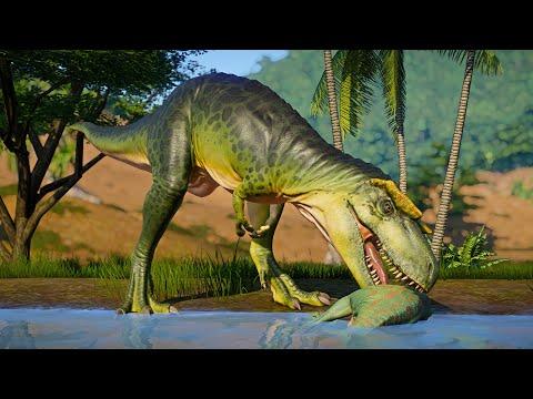 Albertosaurus and Herrerasaurus Hunting in Desert Environment - Jurassic World Evolution! |