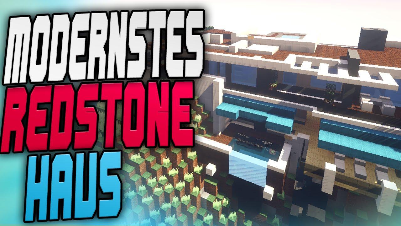 Modernstes redstone haus youtube for Craftingpat modernes redstone haus