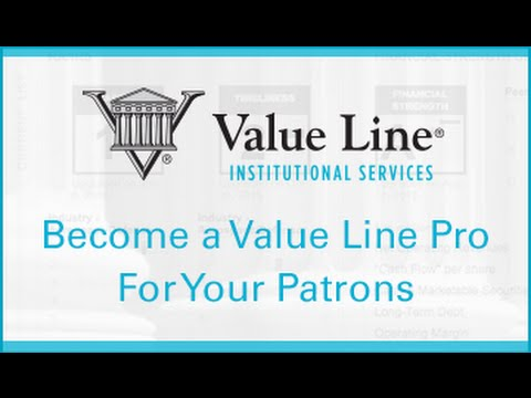 Library Webinar: Become a Value Line Pro for Your Patrons