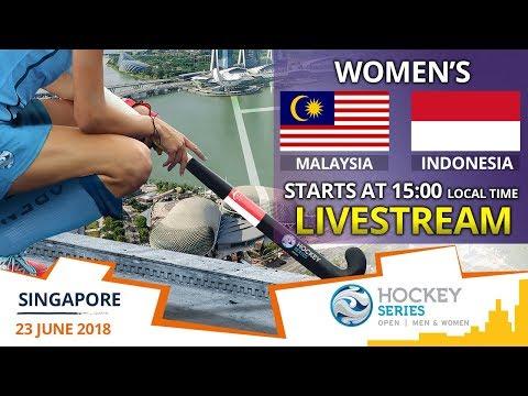Malaysia v Indonesia | 2018 Women's Hockey Series Open Singapore | FULL MATCH LIVESTREAM