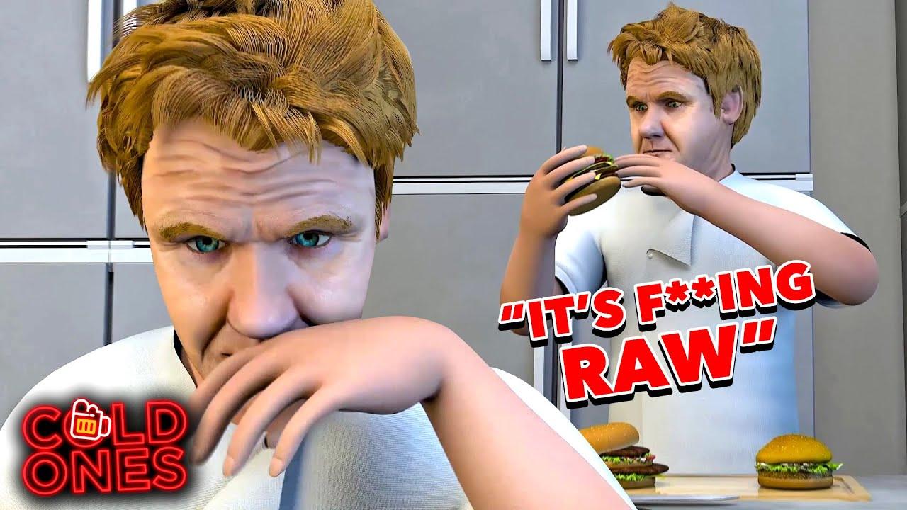 Gordon Ramsay Reviews McDonalds | Cold Ones Animated