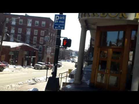 Big city winter life, warmer days, Portland, Maine  Frank Margel