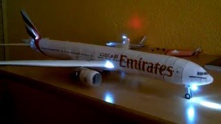 Boeing 777 papercraft with LED lights