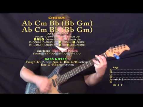 New Americana (Halsey) Guitar Lesson Chord Chart in Eb