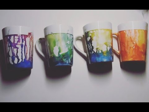 DIY alcohol ink cups