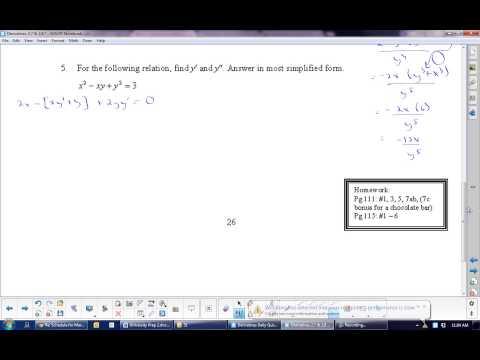 U2L8 Higher Derivatives  Calculus  Math 31
