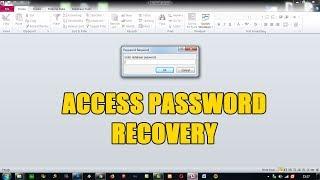 Cara Membuka Password Database Microsoft Access Youtube