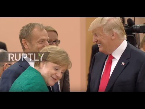 Germany: Trump and Merkel work the room ahead of migration meeting at G20