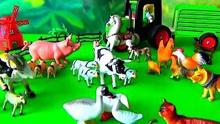 Sa învățăm animalele.  ANIMALELE DOMESTICE ȘI SUNETELE LOR.  Bogdan`s Show la ferma.