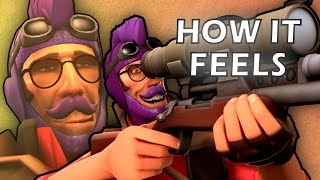 How it FEELS to Play Sniper in TF2