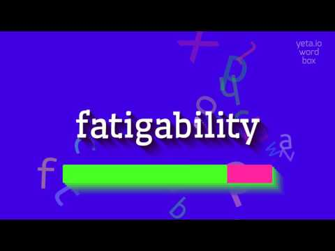 "How to say ""fatigability""! (High Quality Voices)"