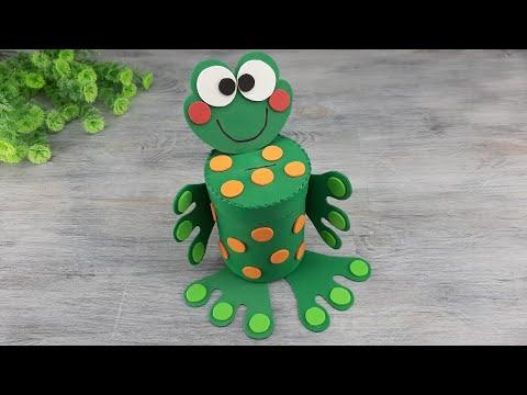 Копилка лягушка своими руками