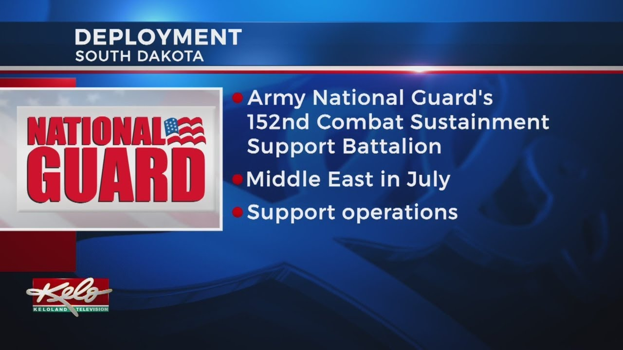 Pierre-Based SD Army National Guard Unit Deploying To Middle East In 2019