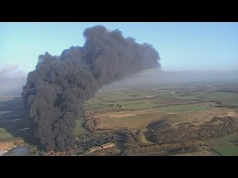 'Colossal' 15,000 tonne tyre fire visible from space