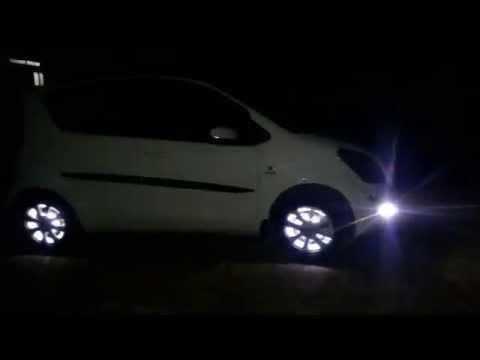 Car wheel LED lights, on music