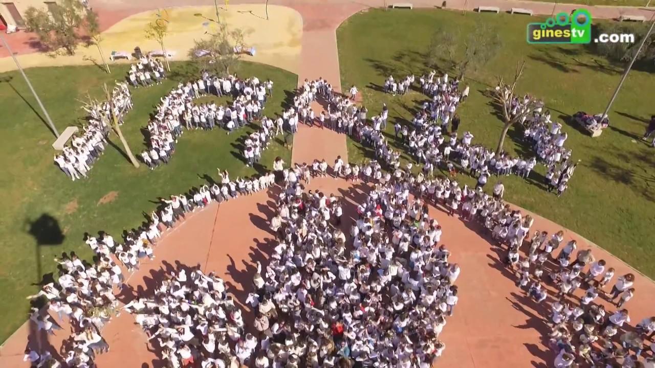 Más de 1.200 escolares de Gines conmemoran el Día de la Paz con un espectacular 'lip dub'