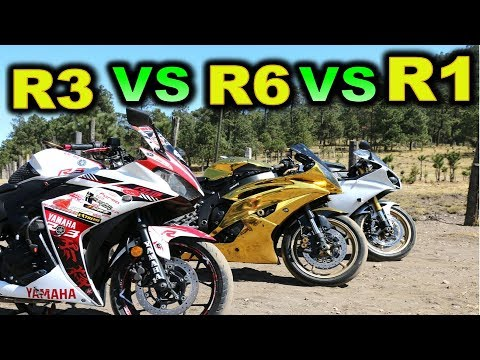 YAMAHA R3 vs R6 vs R1 - BLITZ RIDER