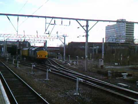 DRS 37611 working 3Z02 Derby RTC to Carlisle High Wapping Sdgs @ Crewe 01/3/15